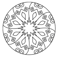 free kalediscope coloring pages - photo#29
