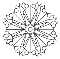 ▷ Kaleidoscope: Coloring Pages & Books - 100% FREE and printable! | 197x200