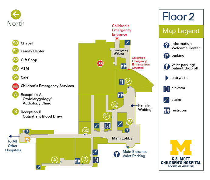 C.S. Mott Children's Hospital and Von Voigtlander Women's Hospital - Floor 2
