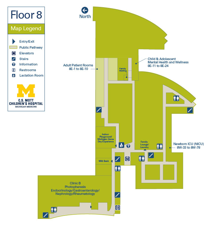 C.S. Mott Children's Hospital and Von Voigtlander Women's Hospital - Floor 8