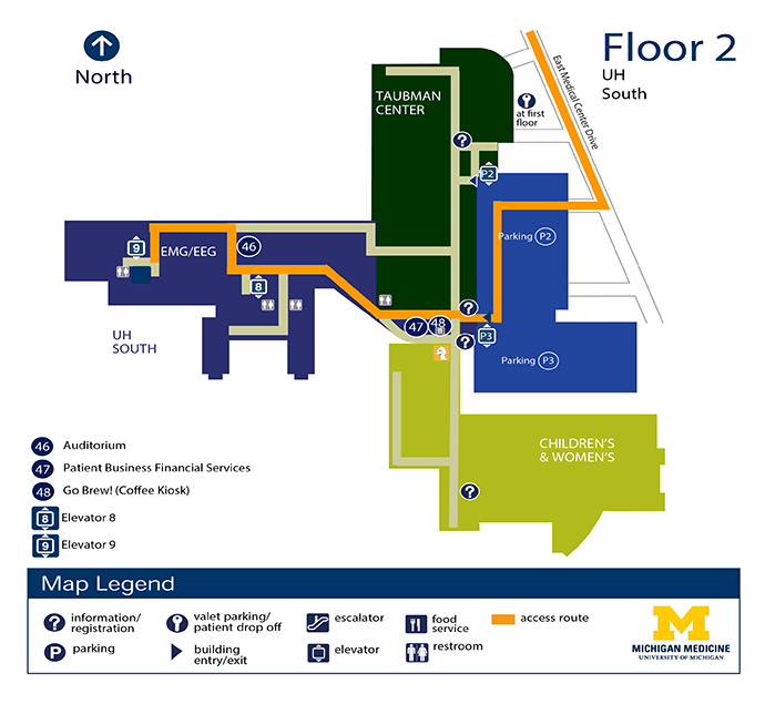 University Of Michigan Medical Center >> University Hospital South Floor 2 Michigan Medicine