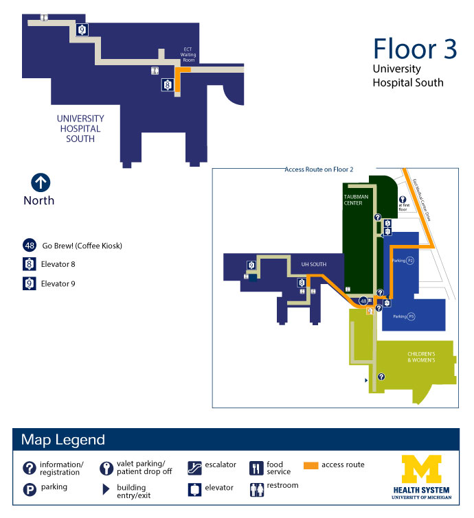University Hospital South - Floor 3 | Michigan Medicine