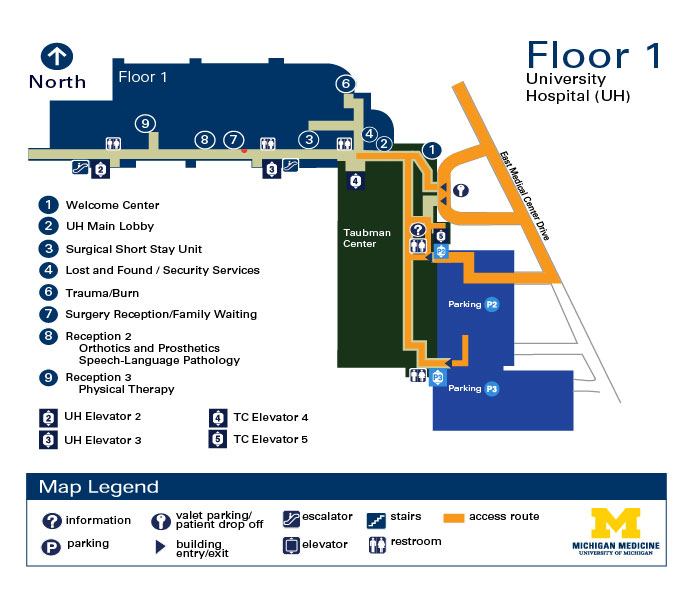 University Hospital - Floor 1 | Michigan Medicine