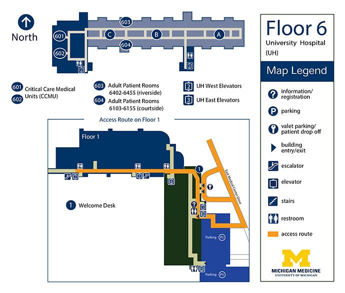 University Hospital - Floor 6 | Michigan Medicine