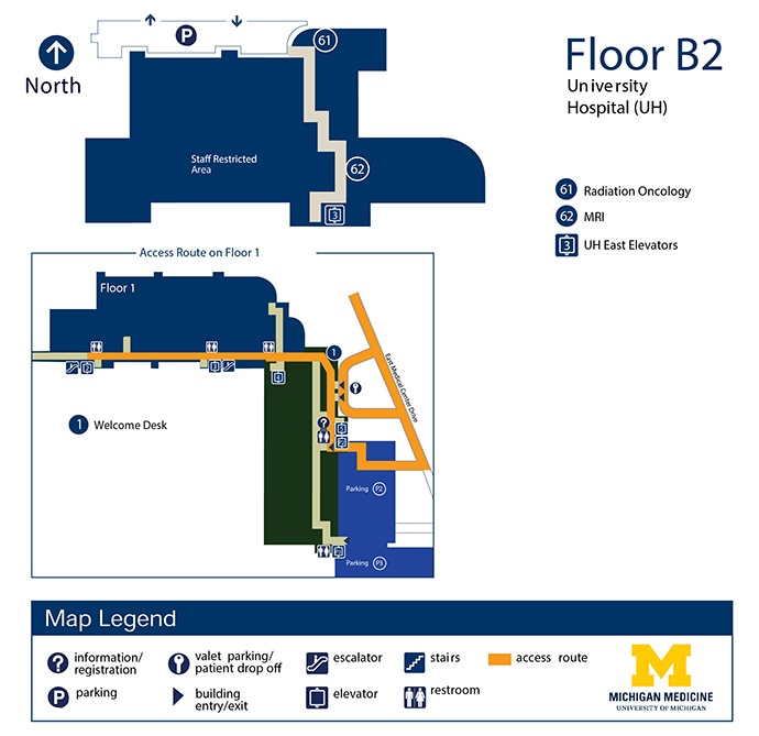 University Hospital Floor B2 Michigan Medicine